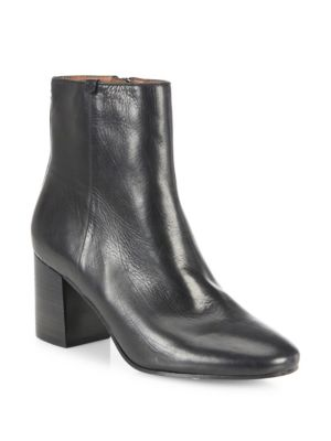 Jodi Leather Block-Heel Booties