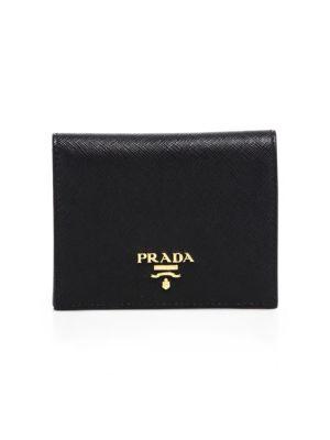 Mini Saffiano Leather Bifold Wallet