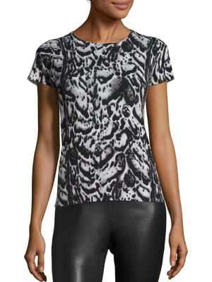 COLLECTION Printed Cashmere Top by Saks Fifth Avenue