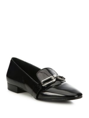 michael kors female 188971 lennox patent leather loafers
