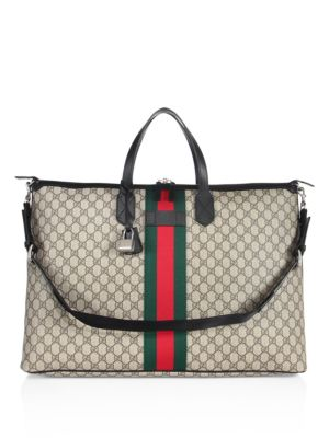 gucci male leather canvas bag