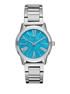 michael kors female 124980 hartman stainless steel threehand watch