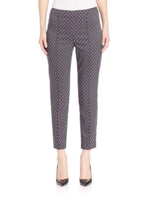 Stretch Diamond Jacquard Capri Pants plus size,  plus size fashion plus size appare