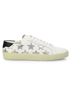 Court Classic Metallic Star Leather Sneakers