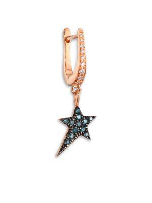 DIANE KORDAS Diamond & 18K Rose Gold Star Earring Charm