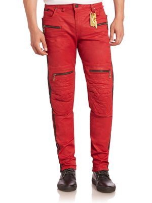 Quilted Slim-Fit Jeans