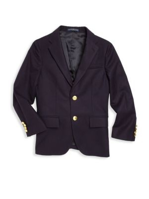 Little Boy's & Boy's Lessona Wool Blazer
