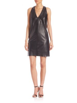 Rochie scurtă MILLY Leather