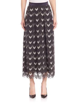 Ankle Length Herringbone Skirt by Escada