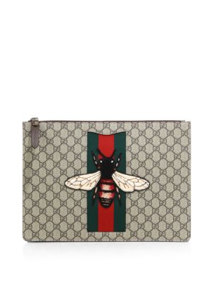 gucci male bee pouch