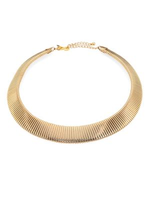 Graduated Snake-Ribbed Collar Necklace
