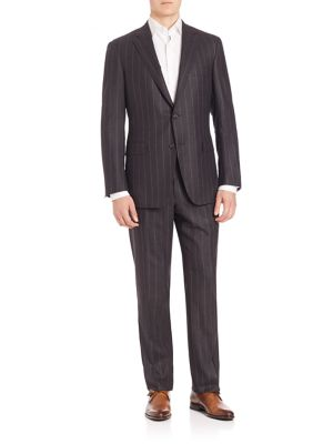 COLLECTION BY SAMUELSOHN Classic-Fit Pinstripe Wool Suit