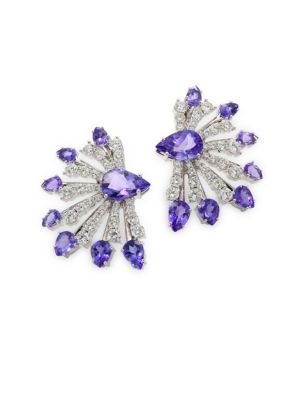 Mirage Diamond & Tanzanite Earrings