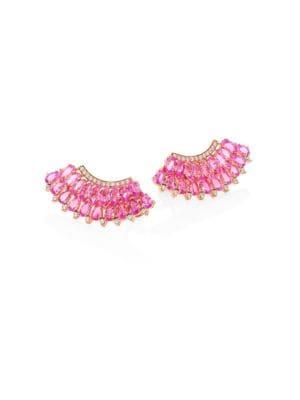 Mirage Diamond & Pink Sapphire Ear Crawlers
