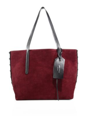 Grainy Leather & Suede Tote