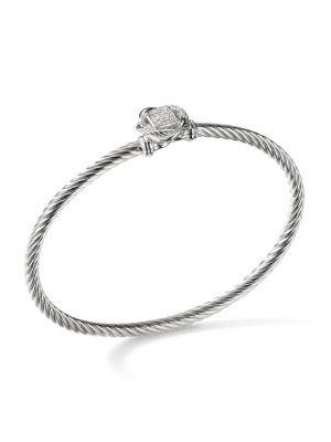 CrossoverInfinity Bracelet with Diamonds