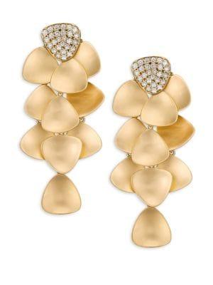 HUEB Bahia Diamond & 18K Yellow Gold Chandelier Earrings