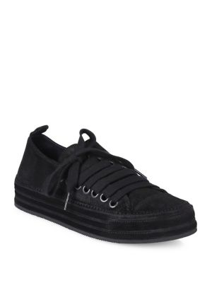 Side-Lace Suede Sneakers