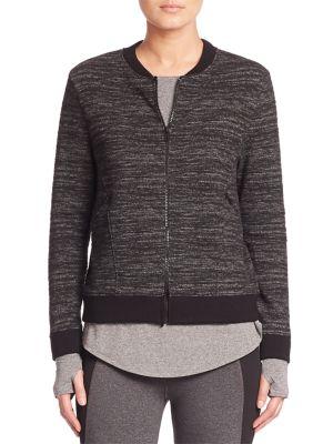 Heathered Zip-Front Jacket by Elie Tahari