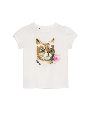 gucci baby 45883 babys cat flower print cotton tee