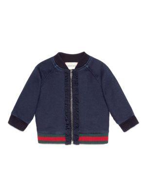 gucci baby babys denim bomber jacket