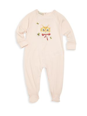 gucci baby babys cat bee graphic footie