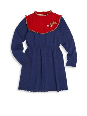Baby's Embroidered Bib Dress