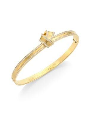 CARELLE Knot Diamond-Trim Bangle