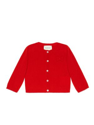 gucci baby babys cashmere cardigan with bow