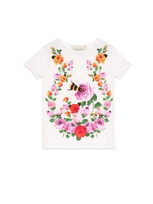gucci girls little girls girls flower bees printed tshirt