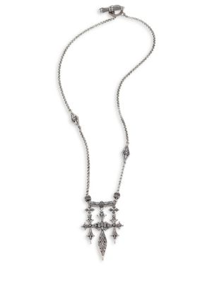 Penelope Triple Cross Sterling Silver Pendant Necklace