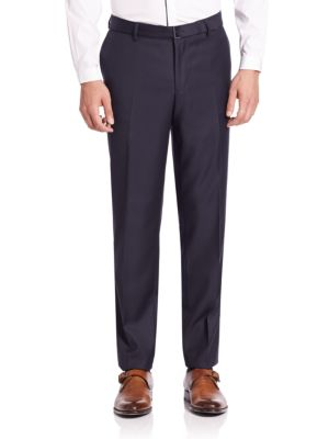Solid Four-Pocket Trousers