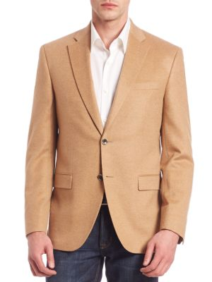 COLLECTION Two-Button Front Cashmere Blazer