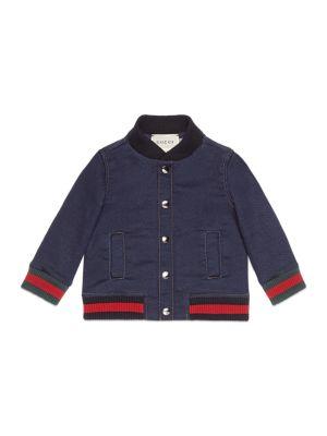 gucci baby babys blend cotton bomber jacket