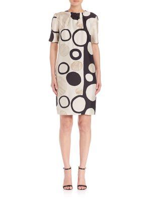 Geometric Printed Silk Dress