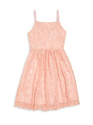 Girl's Lace Fit-&-Flare Dress