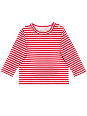 gucci baby 268295 babys cotton striped tee