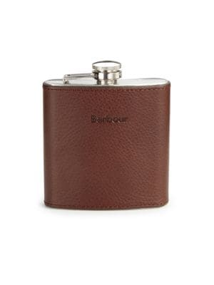 Stainless Steel Leather Wrapped Flask