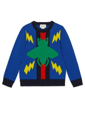gucci boys little boys boys woolen crewneck sweater