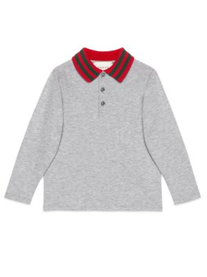 gucci boys little boys boys cotton blend polo tee