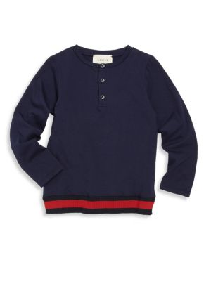 gucci boys little boys boys web henley tee