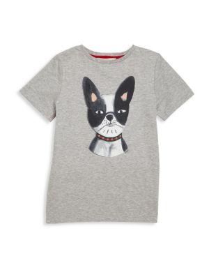 Little Boy's & Boy's French Bulldog Graphic Tee