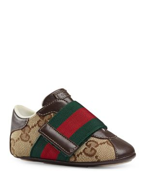 gucci baby 201920 babys gg canvas leather sneakers