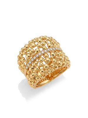 HUEB Bubbles 18K Gold & Diamond Statement Ring