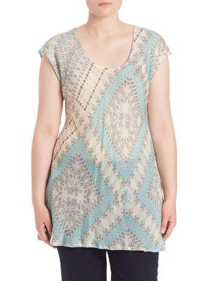 Roseton Bias Tunic plus size,  plus size fashion plus size appare