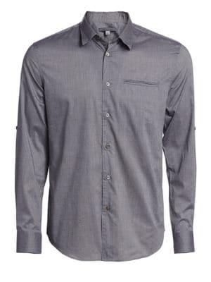 Adjustable Sleeve Slim Fit Shirt