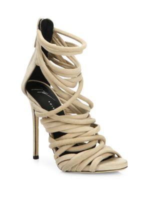 Runway Strappy Suede Sandals