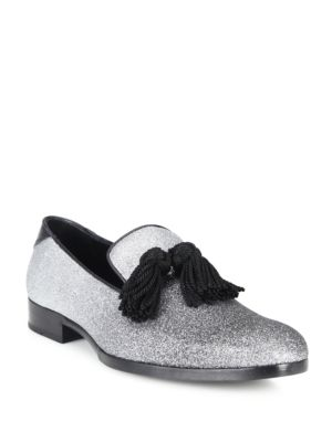 Degrade Fine Glitter Leather Loafers