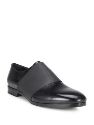 Calf Leather & Elastic Loafers