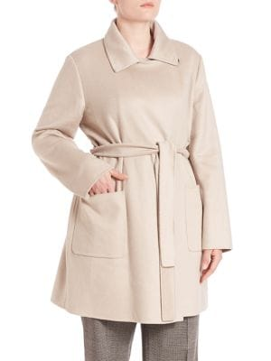 Double Hand Sewn Cashmere Short Coat plus size,  plus size fashion plus size appare